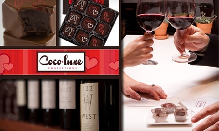 Coco-Luxe Confections - The Haight: $14 for Chocolate and Wine Lovers' Special for Two at Coco-luxe Confections (Up to $38 Value)