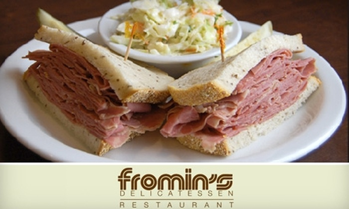 Fromin's Delicatessen & Restaurant - Mid-City: $12 for $30 Worth of Haute Deli Fare, Drinks and More at Fromin's Delicatessen & Restaurant in Santa Monica