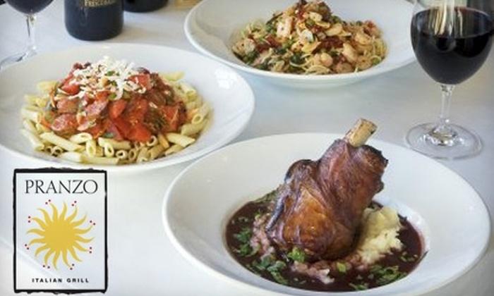 Pranzo Italian Grill - Historic Guadalupe: $20 for $40 Worth of Italian Fare at Pranzo Italian Grill