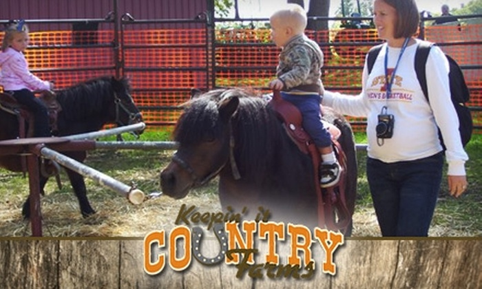 Keepin' It Country Farms - Clear Creek: $7 for One Children's Pass and Pony Ride at Keepin' It Country Farms ($15 Value)