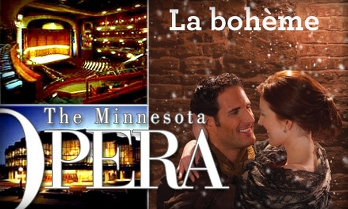 """Minnesota Opera - Northwestern Precinct: $75 For One Level-A Ticket to """"La bohème"""" at Ordway Center for the Performing Arts. Buy Here for One Level-A Ticket ($140 Value). See Below for Additional Seating and Price Option."""