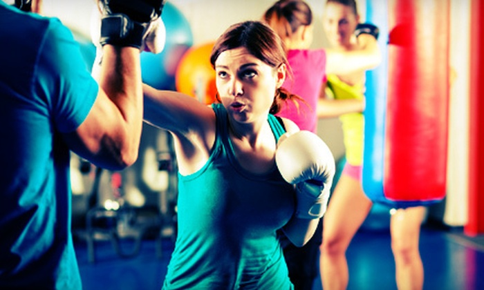 Amerikick - Multiple Locations: Fitness Package with 10 or 20 Cardio-Kickboxing Classes and Optional Boxing Gloves at Amerikick (Up to 90% Off)