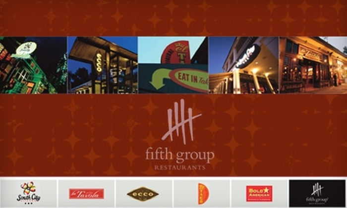 Half Off At Fifth Group Restaurants