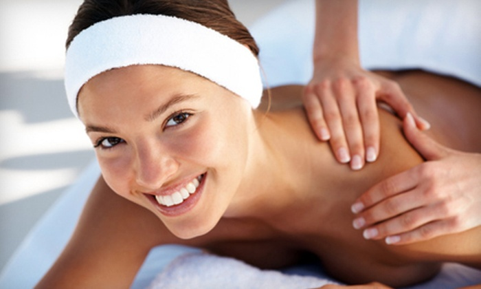 Queen Jane Day Spa - Multiple Locations: Swedish Massage, Manicure or Pedicure, Sauna Access, and Optional Facial at Queen Jane Day Spa (Up to 69% Off)