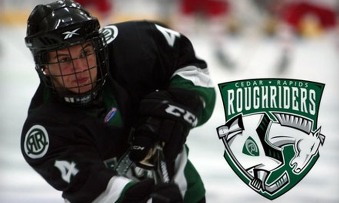 Cedar Rapids RoughRiders - Taylor: $13 for a Blue Zone Center Ice Ticket, Four Chuck-A-Pucks, and Program to the Cedar Rapids RoughRiders Game on Nov. 24th