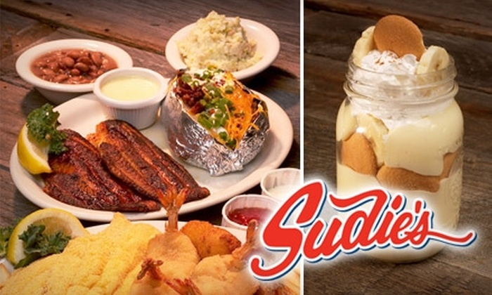 Sudie's - Multiple Locations: $15 for $30 Worth of Southern Seafood Family Dishes at Sudie's