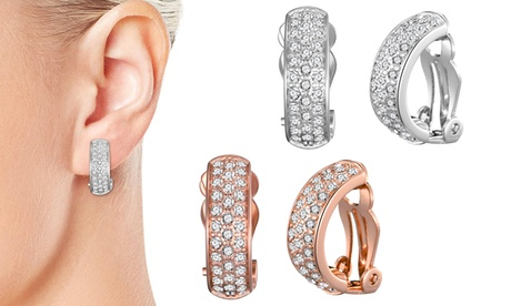 one, two or three pairs of philip jones clip-on earrings with crystals from swarovski®