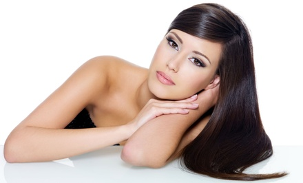 Keratin Straightening Treatment and Haircut at His & Hers Salon ($200 Value)