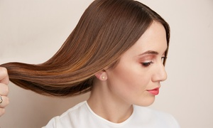 Mozaik Skin & Body: Blowout with Hair Therapy, or Haircut with Conditioning and Style at Mozaik Skin & Body (Up to 59% Off)