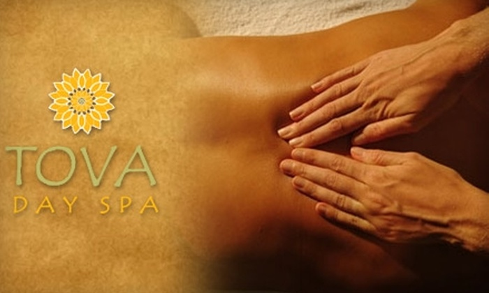 Tova Day Spa - Multiple Locations: $130 for Swedish Massage, Salt and Oil Scrub, and Rejuvenating Facial at Tova Day Spa ($280 Value)