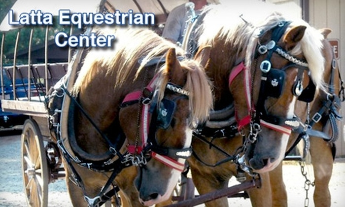 Latta Equestrian Center - 11, Long Creek: 30-Minute Horse-Drawn Covered-Wagon Ride or Carriage Ride at Latta Equestrian Center in Huntersville. Choose from Two Options.