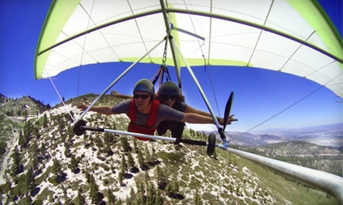 Thermal Sky Sports - Woodland Village: Tandem-Hang-Gliding Flight and Picture Package from Thermal Sky Sports in Reno. Two Options Available.