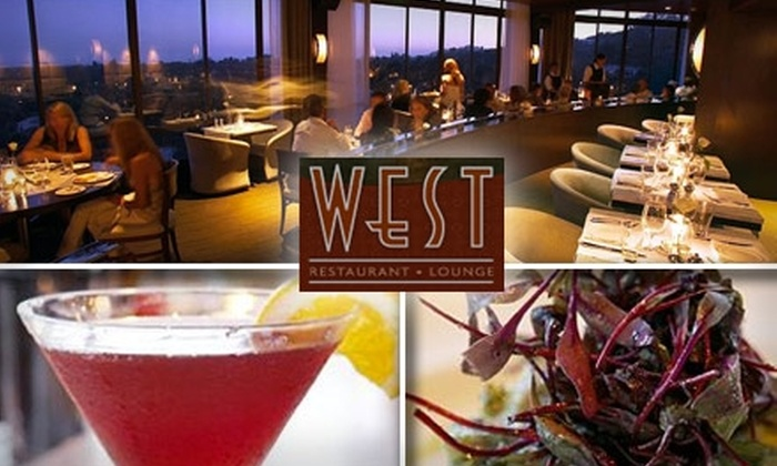 West Restaurant and Lounge - Brentwood: $30 for $60 Worth of Beautiful Views, Meals, and Drinks at West Restaurant and Lounge