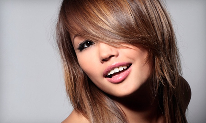 Tricho Salon and Spa - Macomb: $59 for a Cut, Style, Partial Highlights, and Moroccanoil Conditioning at Tricho Salon and Spa in Novi (Up to $160 Value)