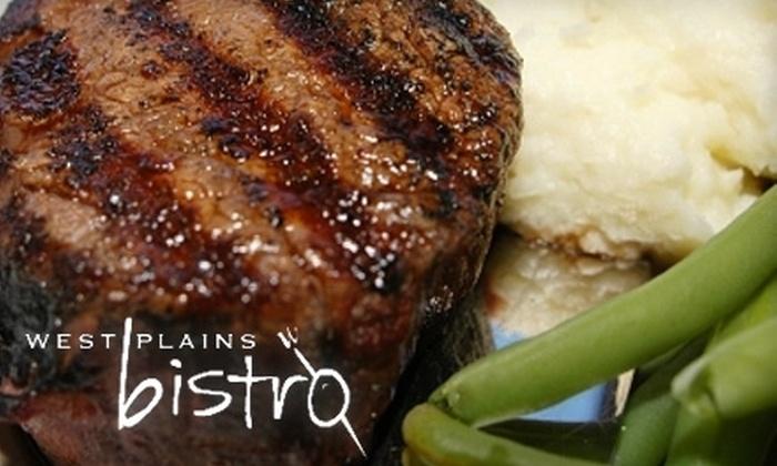 West Plains Bistro - Burlington: $20 for $40 Worth of French Cuisine at West Plains Bistro