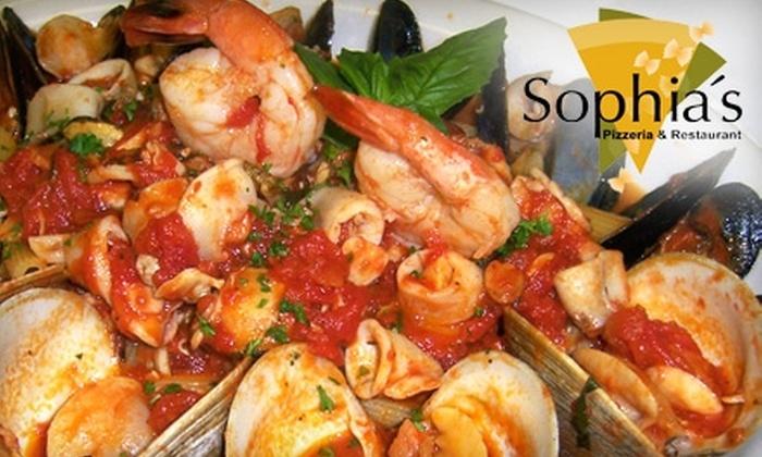 Sophia's Pizzeria Restaurant - Fort Lauderdale: $15 for $30 Worth of Italian Fare at Sophia's Pizzeria Restaurant in Coral Springs
