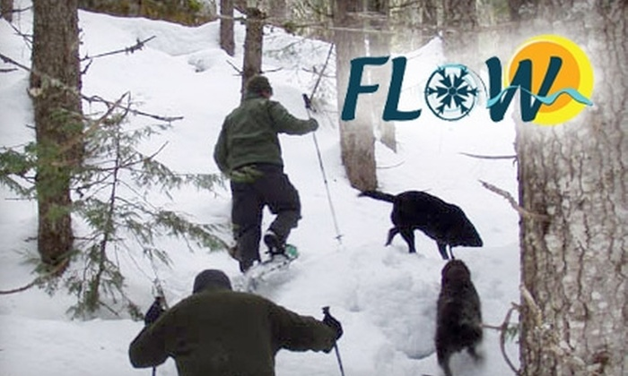 Flow Adventures - Spokane / Coeur d'Alene: $25 for $50 Worth of Winter Activities or $22 for Snowshoe Day Hike ($44 Value) at Flow Adventures