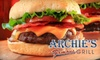 $10 for Fare at Archie's Famous Grill