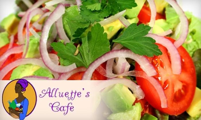 Alluette's Café - Cannonborough - Elliottborough: All-Natural Fare at Alluette's Café. Choose Between Two Options.