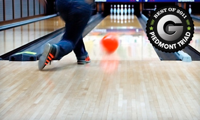 Triad Lanes  Tar Heel Lanes - Multiple Locations: Bowling for Four at Triad Lanes or Tar Heel Lanes (Up to 53% Off). Three Options Available.