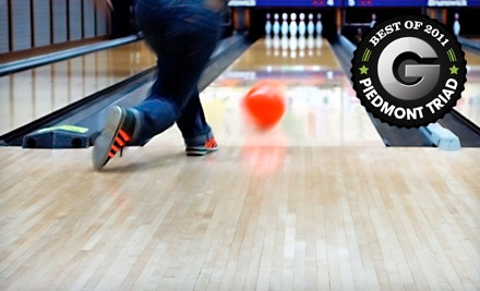 Basic Bowling Package for Four (a $40 value) - Triad Lanes  Tar Heel Lanes in Greensboro
