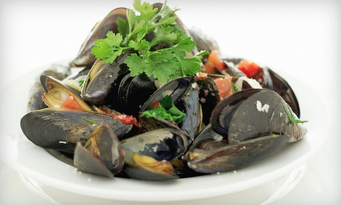 The Majestic Restaurant  - Kansas City: $17 for Mussels and Martinis for Two People at The Majestic Restaurant ($34 Value)