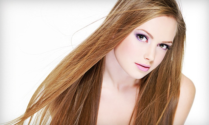 Salon DNA - Multiple Locations: Shellac Manicure, or Keratin Hair Treatment with Optional Haircut at Salon DNA (Up to 58% Off)