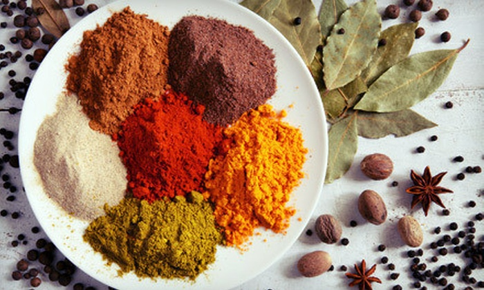 Happy Curry Foods - Highland: Large or Small Spice and Tea Package at Happy Curry Foods (Half Off)