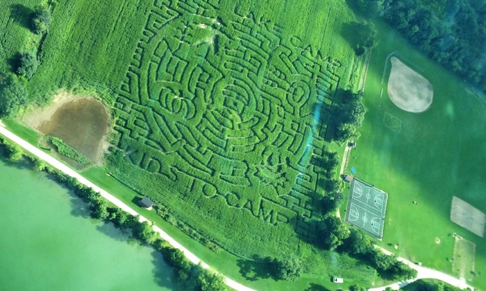Army Lake Camp Corn Maze - East Troy: Corn-Maze Adventures for Two, Four, or Six at Army Lake Camp (Up to 58% Off)