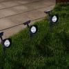 Solar-Powered Outdoor Spotlights (4-Pack)