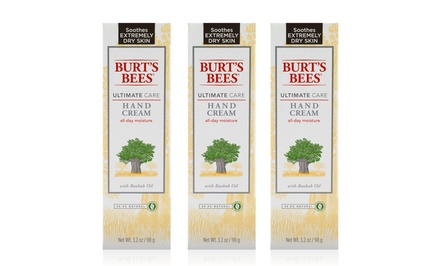 Burt's Bees Ultimate Care Hand Cream; 3-Pack of 3.2oz. Bottles + 5% Back in Groupon Bucks