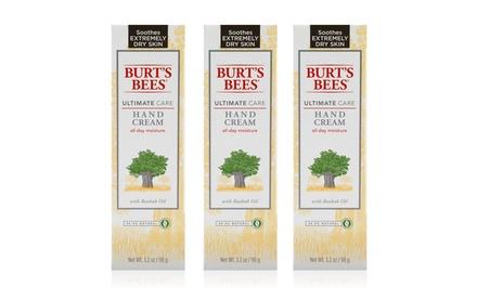 Burt's Bees Ultimate Care Hand Cream; 3-Pack of 3.2oz. Bottles + 5% Back in Groupon Bucks