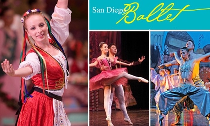 "San Diego Ballet - El Cajon: $20 Tickets to San Diego Ballet's ""The Nutcracker"" ($40 Value). Buy Here for December 5, 2:30 p.m., at East County Performing Arts Center. Additional Dates and Locations Below."