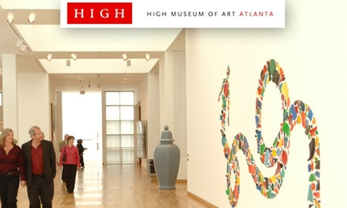 High Museum of Art - Midtown: Discounted One-Year Memberships to The High Museum of Art. Buy Here for A Dual Membership for $45 ($90 Value). See Below For Other Membership Options.