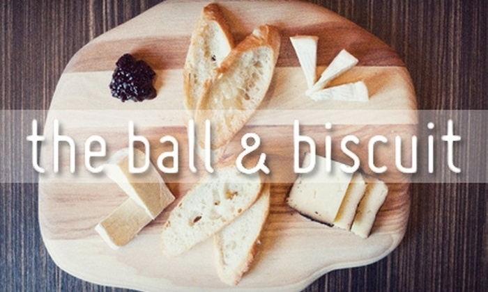 The Ball and Biscuit - Indianapolis: $12 for $25 Worth of Small Plates and Drinks at The Ball and Biscuit