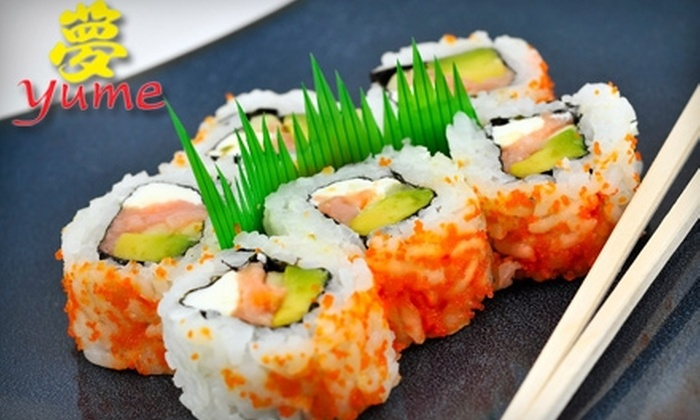 Yume Sushi Grill - Paradise Valley: $15 for $30 Worth of Japanese and Korean Cuisine and Drinks at Yume Sushi Grill in Scottsdale
