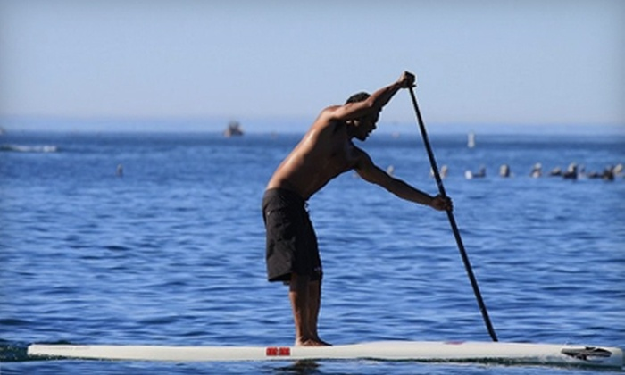 The Sup Cafe - Belmont Shore: $10 for One-Hour Stand-Up Paddleboard Rental ($20 Value) or $20 Worth Breakfast, Lunch Fare, and Drinks at The Sup Cafe