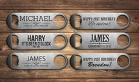 One, Two or Three Personalised Bottle Openers from Fabness (Up to 80% Off)