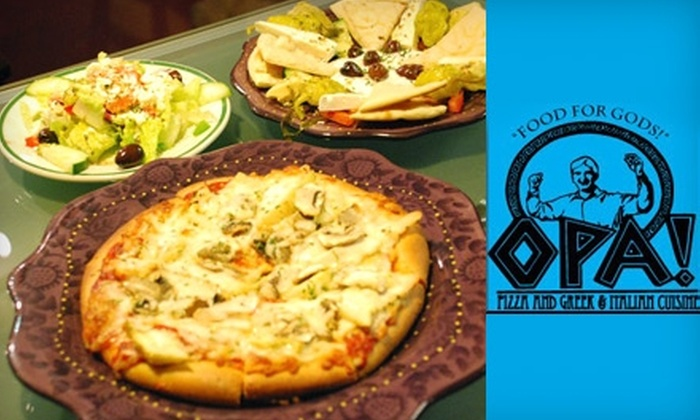 Opa! Pizza and Greek & Italian Cuisine - Country Homes: $10 for $20 Worth of Mediterranean Fare at Opa! Pizza and Greek & Italian Cuisine