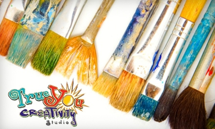 True You Creativity Studio - Greater Heights: $25 for an Art or Creativity Class at True You Creativity Studio ($50 Value)