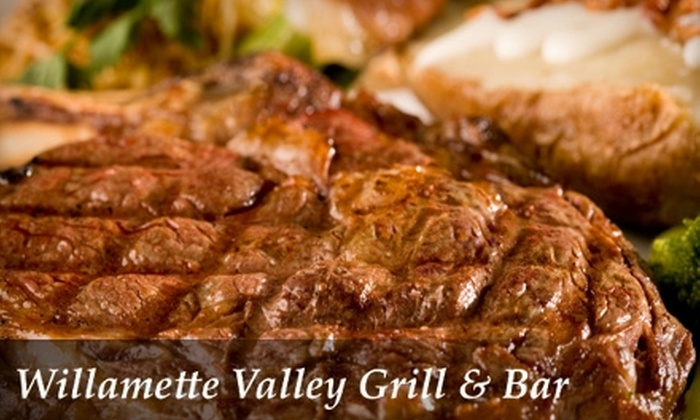 Willamette Valley Grill & Bar - Lansing: $25 for $50 Worth of Steaks, Salads, Sandwiches, and More at Willamette Valley Grill and Bar