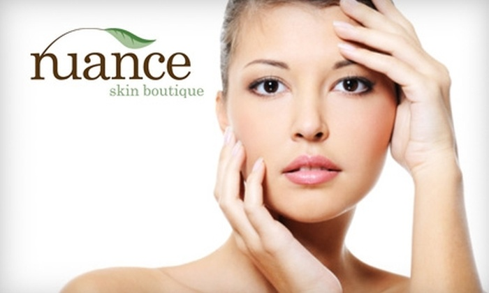 Nuance Skin Boutique - Athens-Clarke County unified government (balance): $42 for a Natural Skin Peel ($85 Value) or $37 for a European Facial ($75 Value) at Nuance Skin Boutique