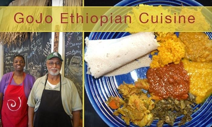 GoJo Ethiopian Cuisine - Eastown: $9 for $18 Worth of Authentic Ethiopian Fare at GoJo Ethiopian Cuisine