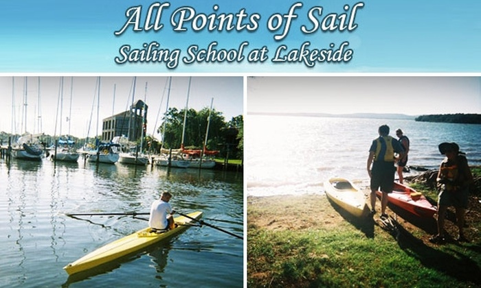 All Points of Sail - Seabrook: Three-Hour Guided Kayak Tour or Group Sailing Lesson at All Points of Sail. Choose Between Two Options.