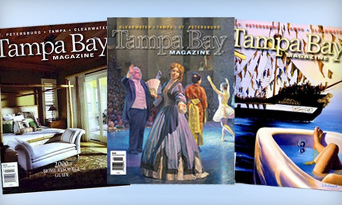 """Tampa Bay Magazine - Northdale: $12 for a Three-Year Subscription to """"Tampa Bay Magazine"""" ($26 Value)"""