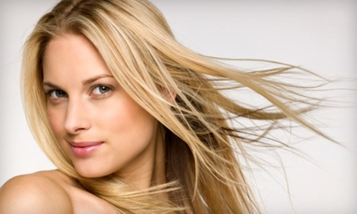 Blu Salon - Edgewater: $50 for a Haircut and Kerastase Conditioning Treatment at Blu Salon in Edgewater (Up to $115 Value)