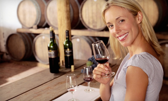 A Blooming Hill Vineyard - A Blooming Hill Vineyard: $15 for Wine-Tasting Flight with Wineglasses, Bottle of Wine and Cake Balls for Two at A Blooming Hill Vineyard in Cornelius ($31 Value)