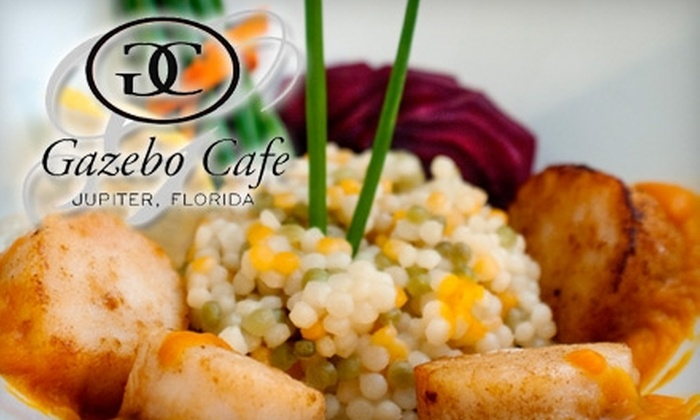 Gazebo Cafe - Jupiter Lakes: $10 for $20 of Lunch Fare and Drinks or $25 for $50 of Dinner Fare and Drinks at Gazebo Café in Jupiter