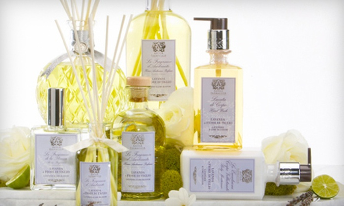 Antica Farmacista: Home Ambiance Fragrance or Bath and Body Products in Choice of Scent from Antica Farmacista