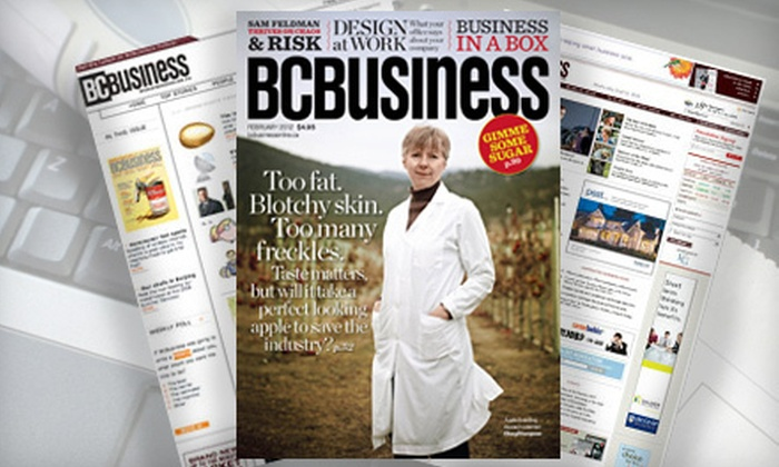 """""""BCBusiness"""" magazine: $13 for a One-Year Subscription to """"BCBusiness"""" Magazine ($25.95 Value)"""